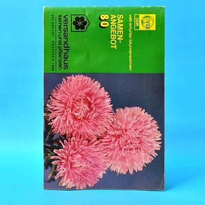 DDR Versandhaus Samen und Pflanzen Erfurt 1980 VSB Katalog