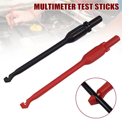 2PCS 4mm Automotive Test Lead Kit Power Probe Wire Piercing Clip Puncture Tool