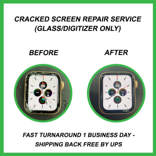 Apple Watch 5 - Cracked Glass Screen Repair Service for Apple Watch Series 5