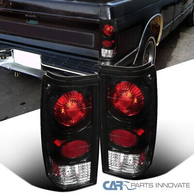 For 82-93 Chevy S10 Blazer 83-90 GMC S15 Sonoma Pickup Black Tail Lights+Brake