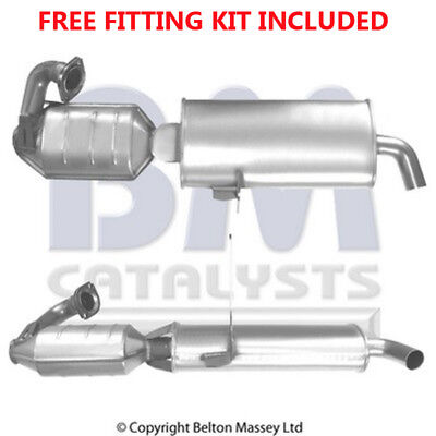 Fit with SMART CITY COUPE Catalytic Converter Exhaust 91364H 0.6 (Fitting Kit In