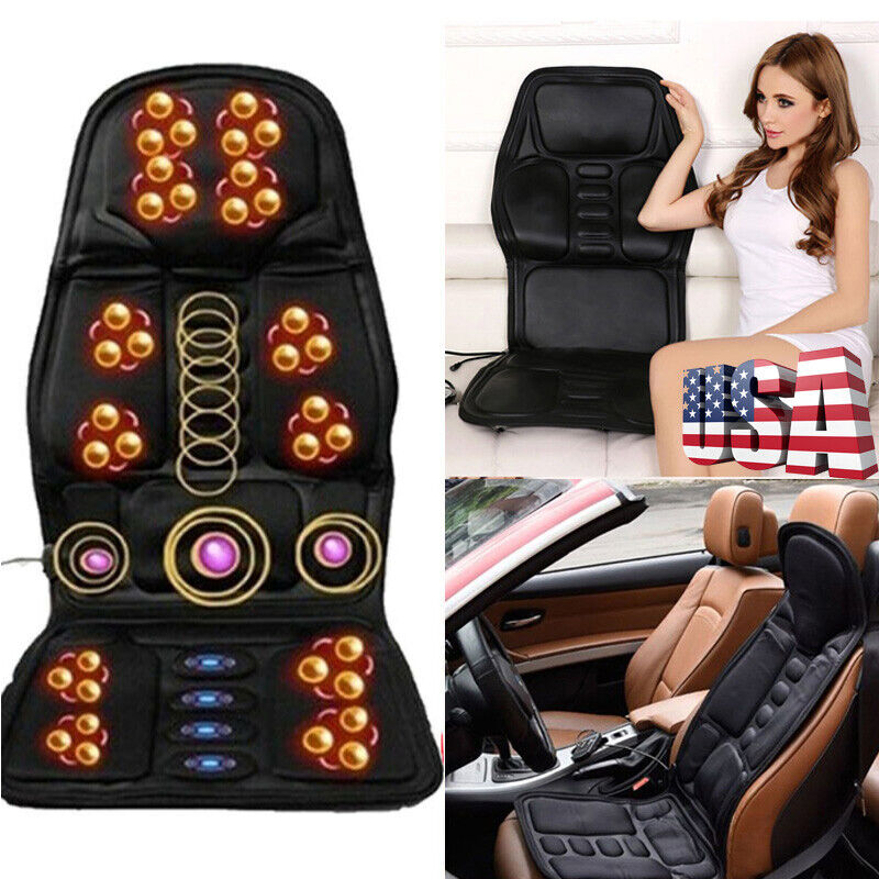 Hot Sell Electric Massage Seat Cushion Car Heated Back Massager Chair Cover Mat
