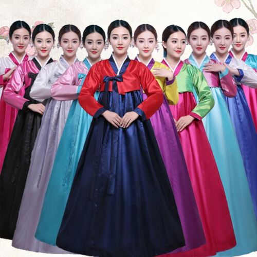 #Korean Hanbok Women/Dress Costume Ethnic Dance Traditional Long Sleeve Cosplay