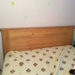 Headboard and frame double - tete de lit et support