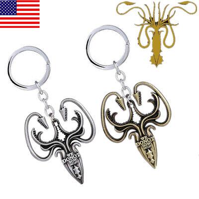 USA Game of thrones House Greyjoy of Pyke P Keychains Metal Predant Keyring Gift