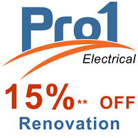 Pro1 - 15% OFF Electrical Renovations in January