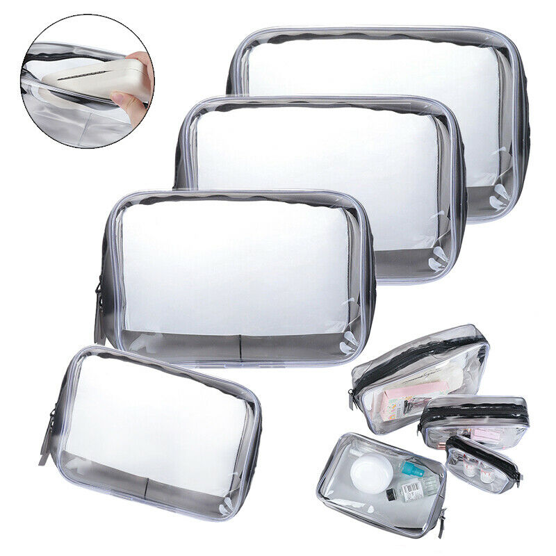 Waterproof Transparent Cosmetic Bags Storage Pouch Makeup Ca
