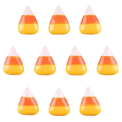 10pcs Candy Corn for Halloween Resin Flatbacks Scrapbooking Hair Bow - Halloween Embellishments For Hair Bows