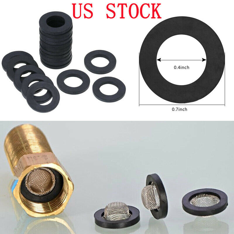 20pcs Rubber Washers Seals Gaskets for Shower Head Hose Pipe Water Faucet Nozzle