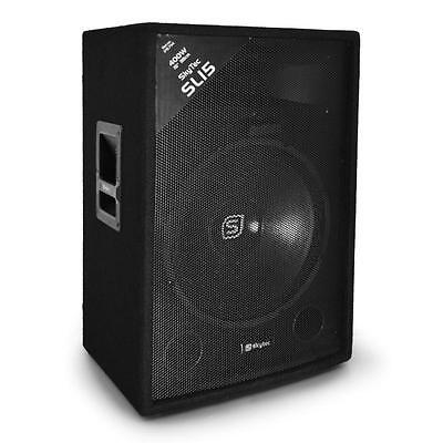 "PA DJ 3WEGE LAUTSPRECHER DISCO BASS BOX 38CM (15"") SUBWOOFER 400W TRAPEZ MONITOR"