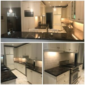 Huge Galley Kitchen 24 Cabinets Granite Upgrades fast $2500 Used