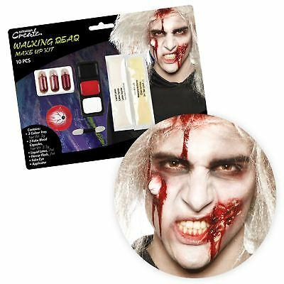 Walking Dead Zombie SFX Makeup Kit Horror Halloween Gore Accessory Artist Party  - Artistic Makeup Halloween