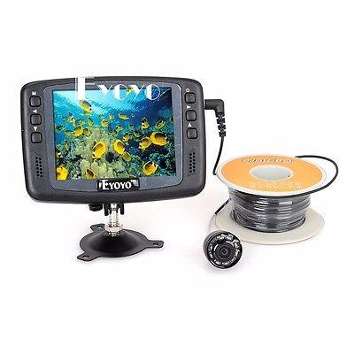 "Eyoyo Underwater 15M Fish Finder Ice/Sea Fishing 3.5"" Monitor HD 1000TVL Camera"