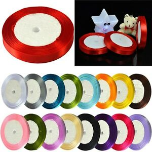 25-Yards-Many-Sizes-Colors-Satin-Ribbon-Wedding-Birthday-Party-Decoration-Sewing