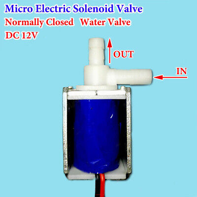 1x Dc 12v Volt Micro Electric Solenoid Valve Waterair Mini Normally Closed Kit