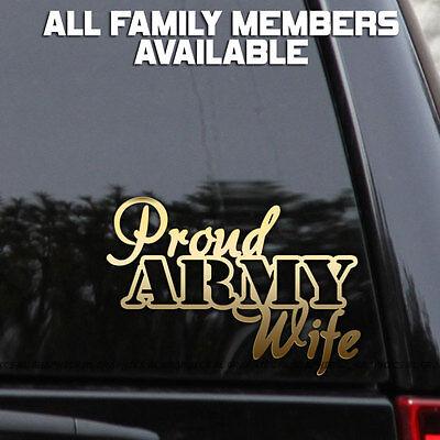 Dad Decal Sticker (Proud Army Decal Sticker Wife Mom Dad Car Truck Window Bumper Wall Laptop  )