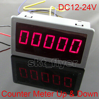 0.56 Red Led Digital Reversible Counter Meter Up Down Dc12-24v High Quality