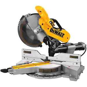Dewalt dual bevel compound mitre saw and stand