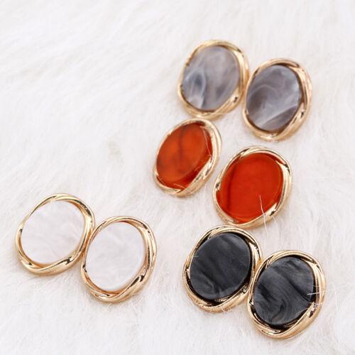 Vintage Women Abnormity Alloy Acrylic Geometric Ear Stud Earrings Jewelry Gift
