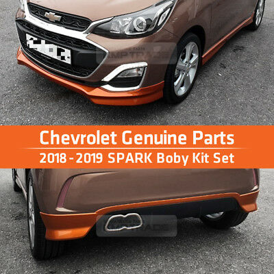 OEM Genuine Parts Front Rear Side Body Kit Set Orange For Chevrolet 18-19 Spark