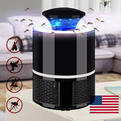 Indoor Insect Killer (US USB Bug Insect Zapper Mosquito Killer Indoor Fly Pest Trap Inhaled Lamp)