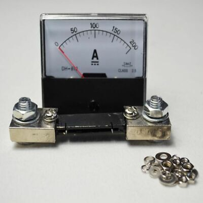 High Quality 0200a Panel Meters Analog Amp Meter Dc Current Ammeter Shunt