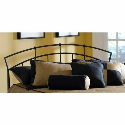 Bowery Hill King Metal Spindle Headboard with Rails in Antiq