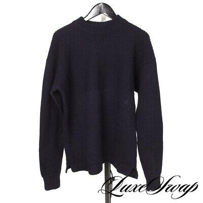 LNWOT Margaret Howell Made in UK Grape Amethyst Bubble Knit Split Sweater M NR