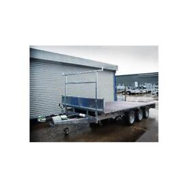 INDESPENSION TRI AXLE FLAT BED TRAILER 14 X 6