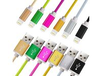iPhone braided strong usb sync charging cable new 1.5m long