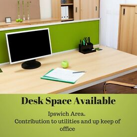 Desk Space In Modern Office Near Ipswich