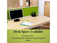 Desk Space In Modern Office Near Ipswich