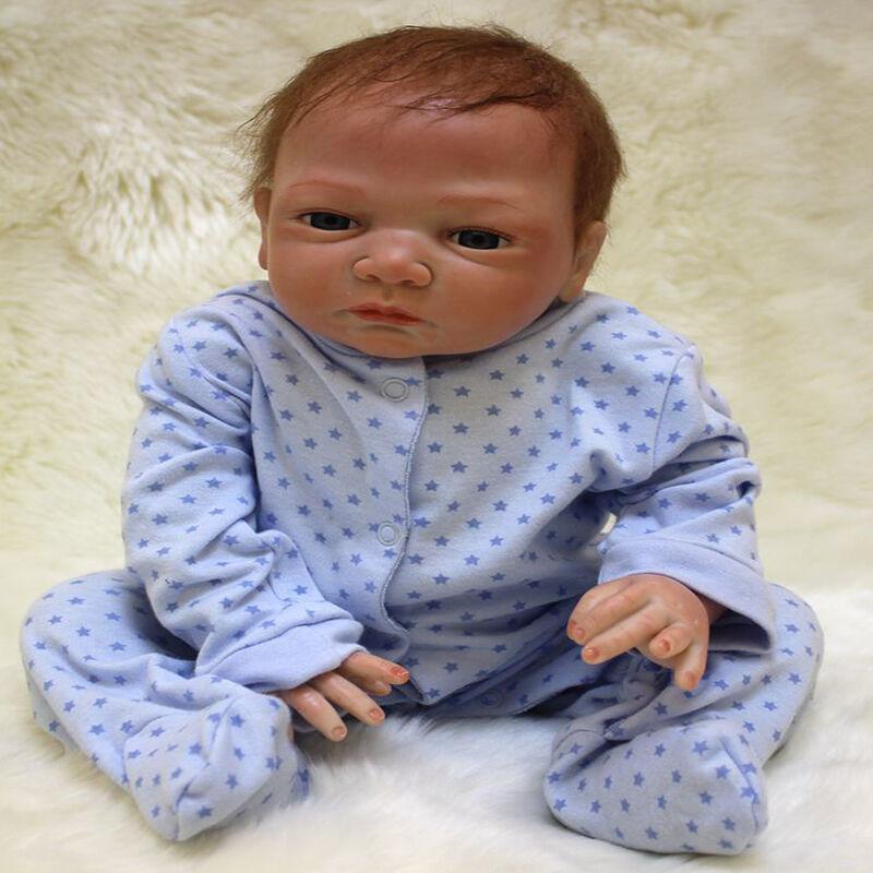 "46cm/18"" Handmade Reborn Baby Doll Girl Newborn Lifelike Soft Vinyl silicone"