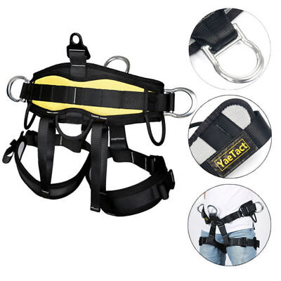 US Outdoor Body Safety Rock Climbing Arborist Tree Rappelling Harness Seat Belt
