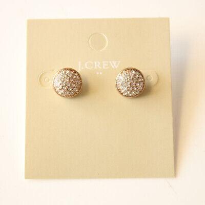 New Jcrew Rhinestone Button Stud Earrings Best Gift Fashion Women Party Jewelry