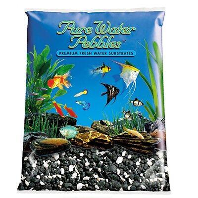 Pure Water Pebbles Aquarium Gravel Salt & Pepper 25 lbs (Grain Size 3.1-6.3 mm)