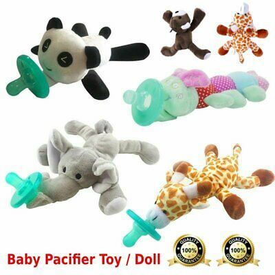 Baby Pacifier Silicone Pacifiers With Plush Toy Giraffe Nipple Soother Cute HT