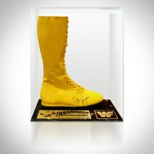 RARE-T Exclusive 'BOOT HANDSIGNED BY HULK HOGAN' Museum Display