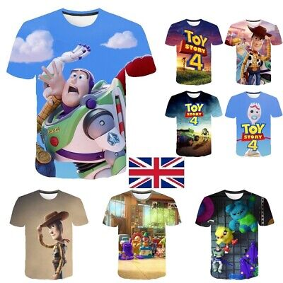 UK STOCK Toy Story 4 Forky T-shirt Woody Buzz lightyear Mens Ladies Kids TS4