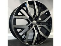 """18"""" Santiago style Alloy wheels and tyres (blk/pol) 5x112 Suits most Vw, Seat and Audi A3 etc"""