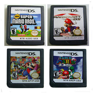 Games Super Mario Bros + Party + Kart + 64 For Nintendo DS NDS NDSL DSi XL 3DS