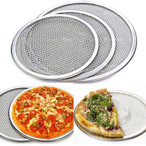 6''- 14'' Aluminium Mesh Pizza Screen Baking Tray Bakeware P