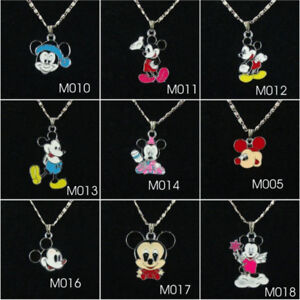 Mickey Mouse charm pendant necklace