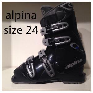 Alpina Downhill Ski Boots 24 (6-7) New Condition