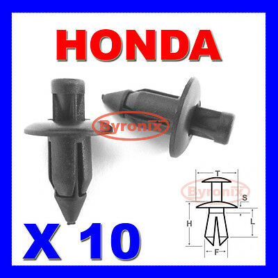 HONDA FAIRING PANEL TRIM CLIPS RIVETS FASTENERS 6mm X10