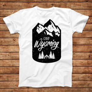 NEW Camping In Wyoming Tee Shirt