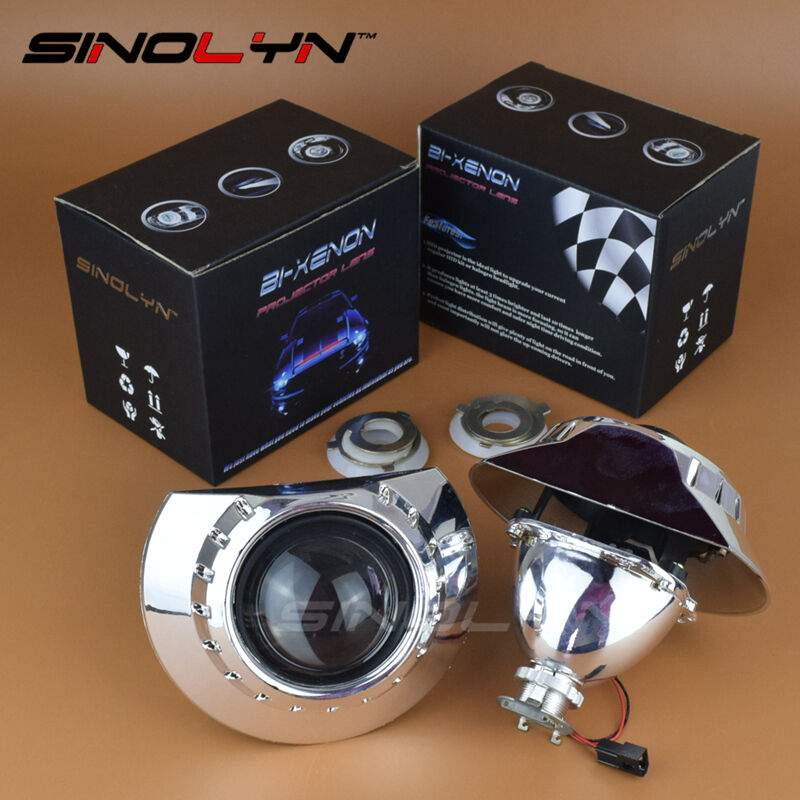 Bmw Xenon Headlights: 2.5'' Bi-xenon Projector Lens Headlights Retrofit For BMW