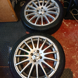 17 inch alloys 4x100 with tyres