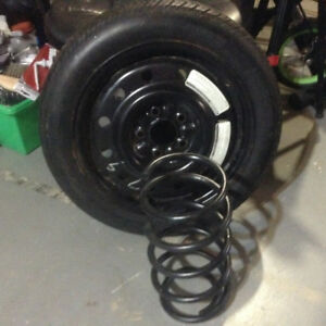 Coil spring & spare tire