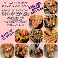 Gel nails services new clients welcome offer $25! Txt 5879888244